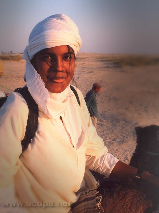 Marie, tournée d'été 98, en Tunisie