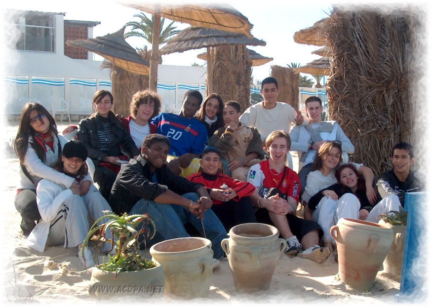 Noël 2004, à Monastir (Tunisie)