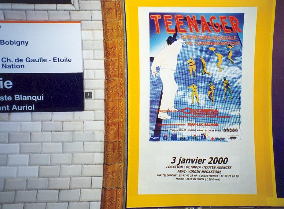 Olympia 2000 : Affiche dans le métro