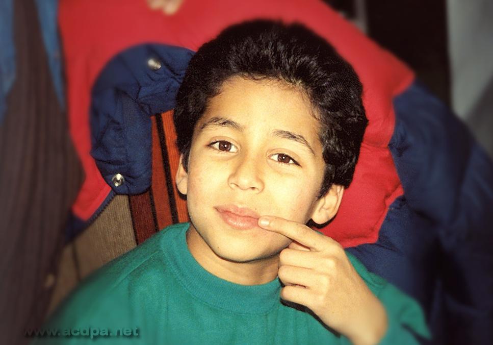 Kader, 11 ans, quelques mois avant le premier spectacle à  l'Olympia (en 1992)