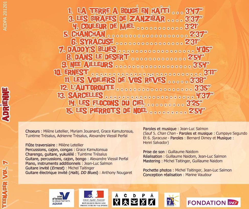 CD n°7 Teenager : Adrienne -2