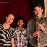 Bérénice, Abimaniou et Arthur au saxo soprane