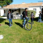 Nos logements, avec les vélos, mis à disposition des Teenager, pendant tout le séjour!!