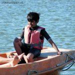 Abi découvre le dinghy