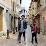 Abimanyou et Alexandre dans les rues de Florac, le 23 Juillet