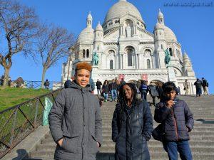 Basilique du Sacré Coeur : Isaïa, Loojha et Abimaniou