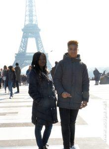 Esplanade du Trocadéro : Loojha et Isaïa