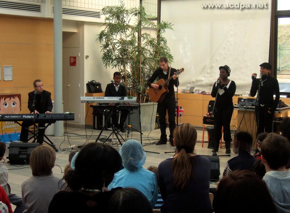 Concert au CHU R. Debré, le 16 février 2011