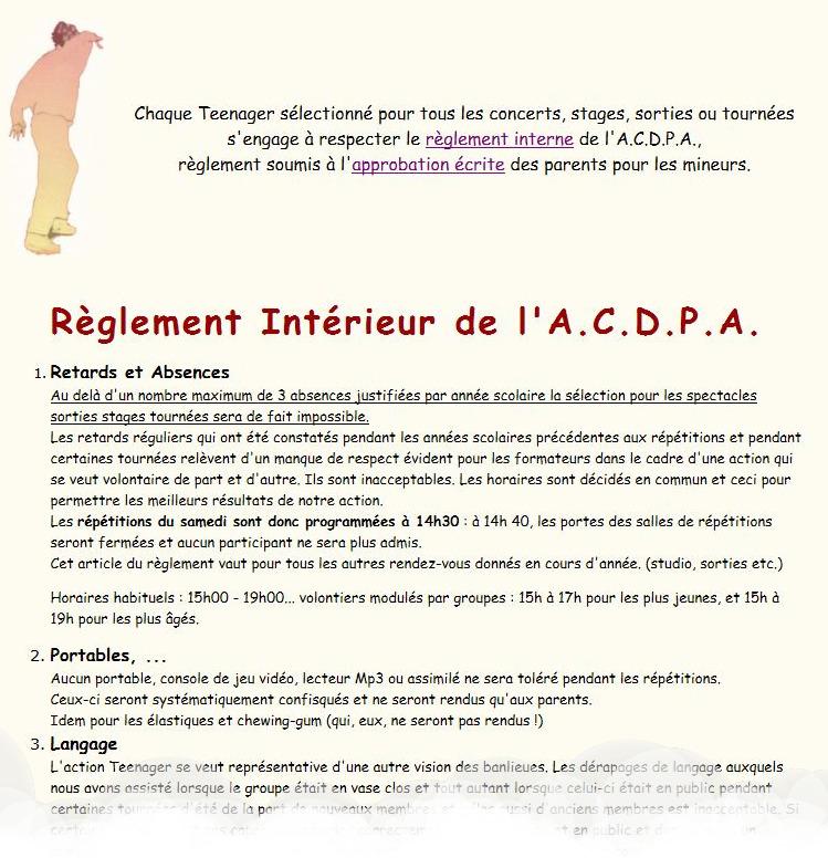 A c d p a association a c d p a teenager jean luc for Reglement interieur association pdf