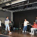 Répétition avec les stagiaires : Robin, Sarah, Kimberley, Jean-Luc, Mégane Grace, Jordy et Mattéo