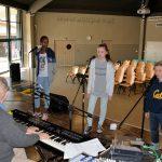 Répétition avec les stagiaires : Kimberley, Sarah et Robin