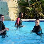 Joies de la piscine : Mattéo, Kimberley et Mégane