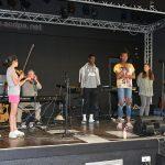 Répétition pour le spectacle : Lina, Léa, Jean-Luc, Jordy, Kimberley, Mégane et Grace