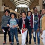 Lucas, Léo, Laetitia, Keïko, Macathia et Sindy, au Musée d'Orsay